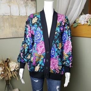 Vintage Floral Cardigan